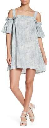 Romeo & Juliet Couture Cold Shoulder Ruffle Trim Dress