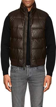 Ralph Lauren Purple Label MEN'S BURWOOD DOWN-QUILTED LEATHER VEST