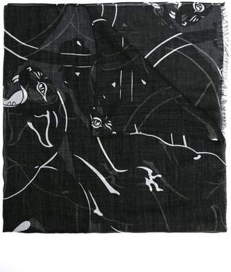 Valentino panther print scarf