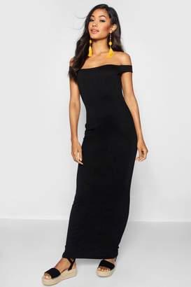 boohoo Bardot Column Jersey Maxi Dress