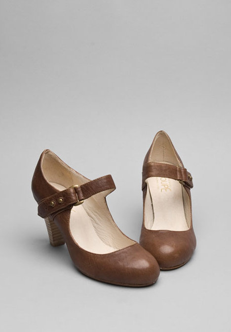 F Troupe Buckle Strap Leather Heel