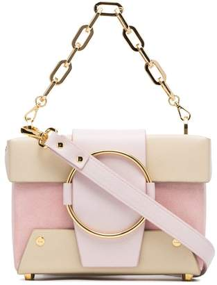 Yuzefi pink and nude Asher leather and suede box bag