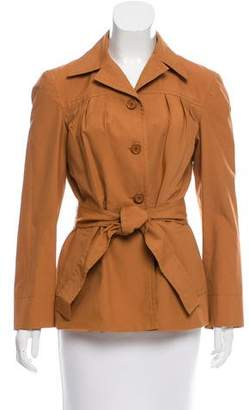 Prada Belted Fitted Jacket
