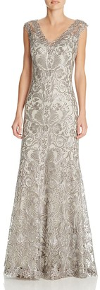 Tadashi Shoji Embroidered Lace Gown $548 thestylecure.com