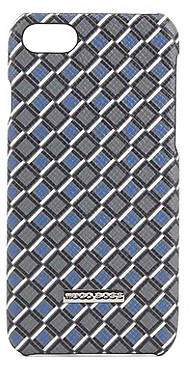 HUGO BOSS Signature Collection iPhone 8 cover in printed palmellato leather