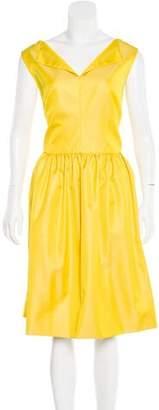 Lela Rose Sleeveless A-Line Dress