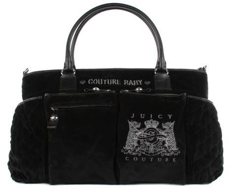 Juicy Couture Womens Scottie Embroidery Baby Tote Bag