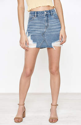 PacSun Vintage 5-Pocket Destroyed Mini Skirt