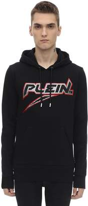 Philipp Plein Embellished Cotton Sweatshirt Hoodie