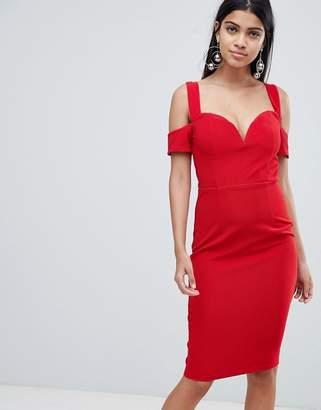Rare London bardot knot sleeve dress