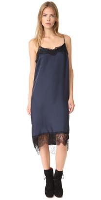 Clu Lace Trimmed Slip Dress $257 thestylecure.com