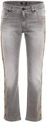 Fendi Denim Jeans With Logo Strip