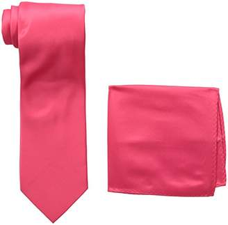 Stacy Adams Men's Satin solid Tie Set