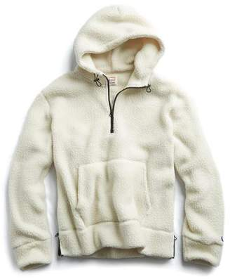 Todd Snyder + Champion Polartec Sherpa Popover Hoodie in Cream