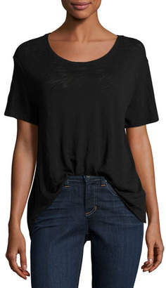 ATM Anthony Thomas Melillo Slub Jersey Cotton Boyfriend Tee, Black