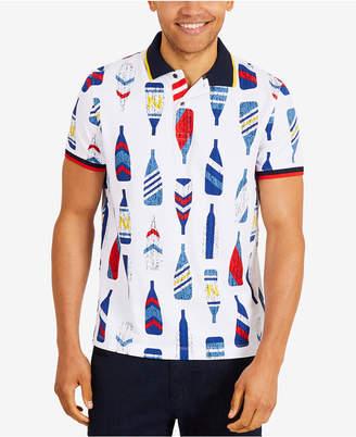 Nautica Men's Oar-Print Polo