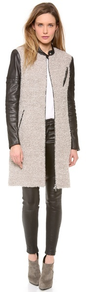 Yigal Azrouel Merino Boucle Coat