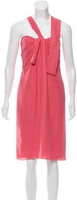 Alberta Ferretti Silk Strapless Cocktail Dress