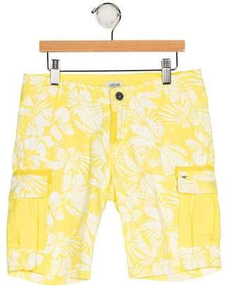 Armani Junior Boys' Floral Print Shorts w/ Tags