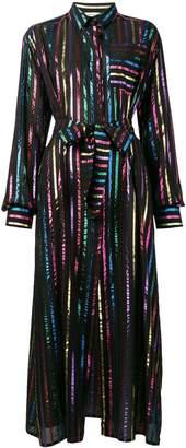ATTICO metallic striped dress