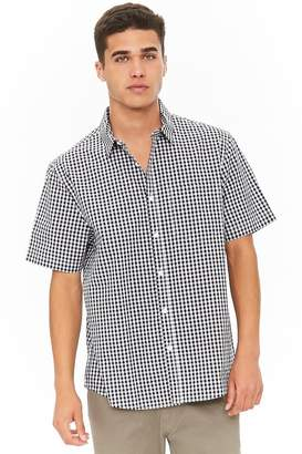 Forever 21 Fitted Gingham High-Low Shirt