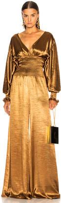 Caroline Constas Smocked Waist Jumpsuit