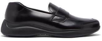 Prada Linearossa Chunky Sole Leather Loafers - Mens - Black