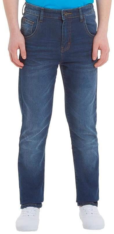 Fluid Jungen Skinny Jeans Denimmeliert Blau