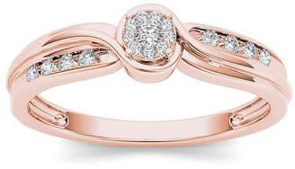 MODERN BRIDE 1/10 CT. T.W. Diamond 10K Rose Gold Engagement Ring
