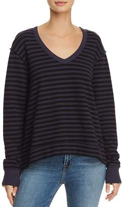 Wilt Asymmetric Striped Tee