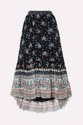 Ulla Johnson Marina Floral-print Fil Coupé Silk-blend Chiffon Midi Skirt - Navy