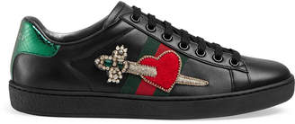 Ace leather embroidered sneaker $795 thestylecure.com