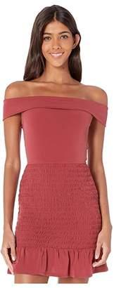 BCBGeneration Smocked Off Shoulder Dress - YDM6206462