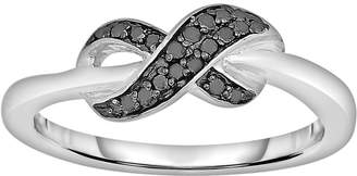 Kohl's Sterling Silver 1/10-ct. T.W. Diamond Infinity Ring