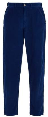 Gucci Cotton Corduroy Trousers - Mens - Blue