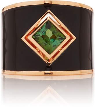 Gilan Hafsa 18K Rose Gold And Tourmaline Ring Size: 6.5