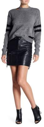Romeo & Juliet Couture Faux Leather Lace-Up Skirt