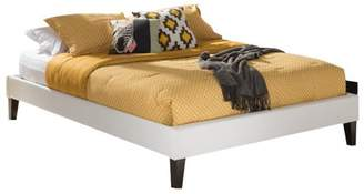 Baxton Studio Lancashire Modern and Contemporary Faux Leather Upholstered Bed Frame with Tapered Legs , Multiple sizes, Multiple colors