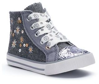 Jumping Beans® Toddler Girls' Sequin High-Top Sneakers $39.99 thestylecure.com