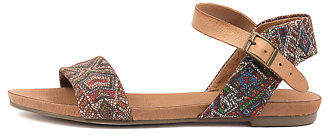 Django & Juliette New Jinnit Tan Aztec Leather Tan Aztec Tan Womens Shoes Casual