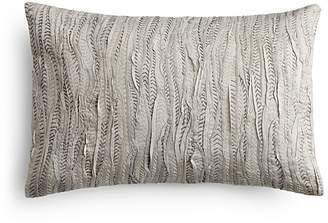 "Vera Wang Marble Shibori Rafia Decorative Pillow, 12"" x 16"""