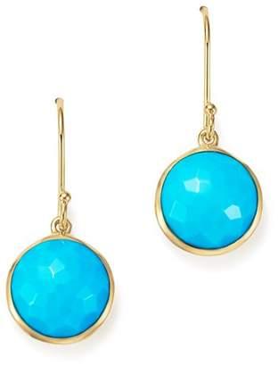 Ippolita 18K Gold Lollipop Earrings in Turquoise