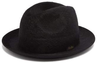 Borsalino Melousine Felt Fedora Hat - Mens - Black