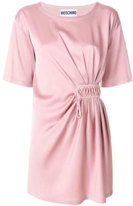 Moschino gathered asymmetric mini dress