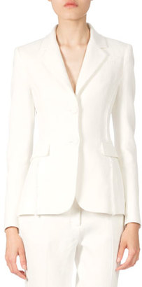 Altuzarra Two-Button Fitted Jacket W/Fringe Detail, Natural White $1,995 thestylecure.com