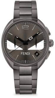 Fendi Momento Bugs Grey Stainless Steel Chronograph Watch