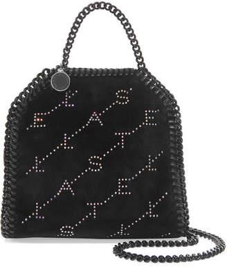 b0ead9088172 Stella McCartney The Falabella Tiny Crystal-embellished Velvet Shoulder Bag  - Black