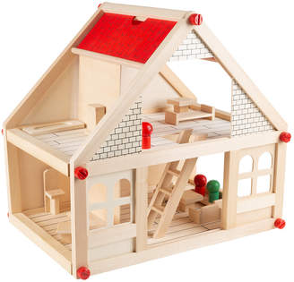 story. Trademark Classic 2 Wooden Dollhouse