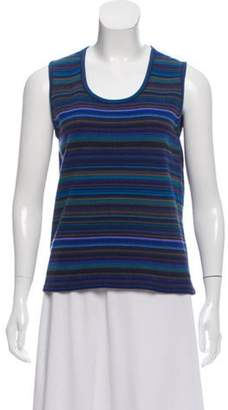 Clements Ribeiro Cashmere Stripe Top Blue Cashmere Stripe Top