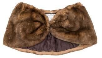 Max Mara Fur Silk-Lined Stole